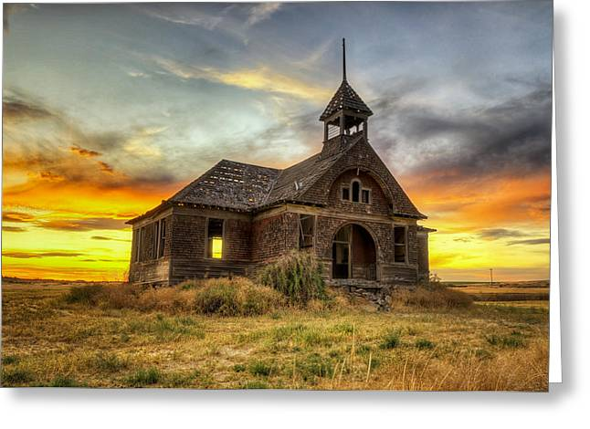 Govan Schoolhouse Greeting Card by Michael Gass