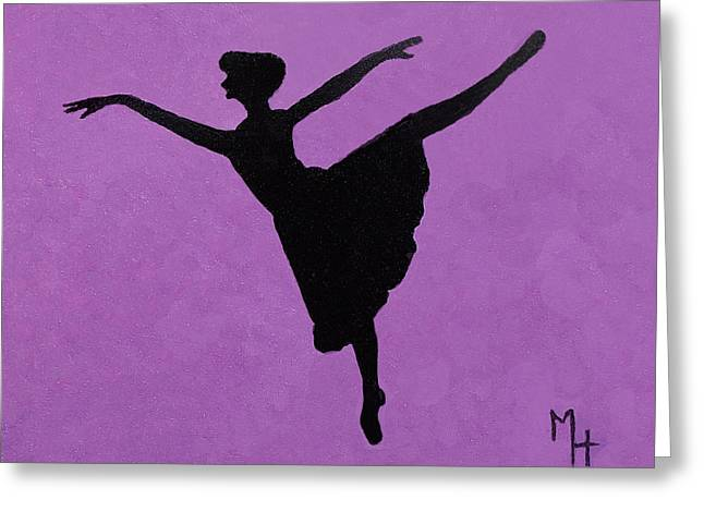 Graceful Arabesque Greeting Card by Margaret Harmon