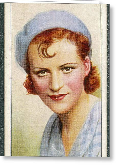 Gracie Fields  English Singer Greeting Card by Mary Evans Picture Library