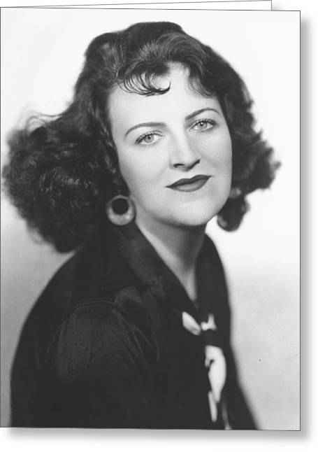 Gracie Fields Greeting Card by Silver Screen