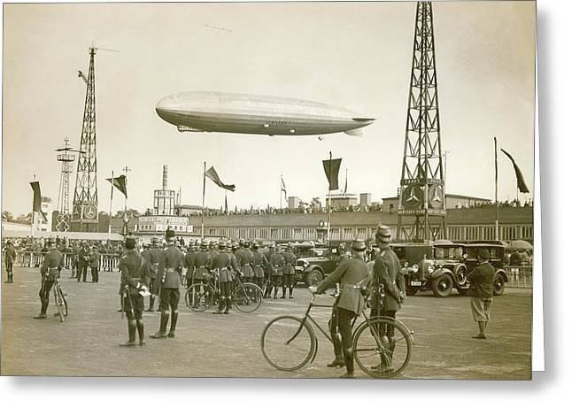 Graf Zeppelin Polar Flight Chart Greeting Card
