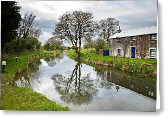 Greeting Card featuring the photograph Grand Canal At Miltown by Ian Middleton