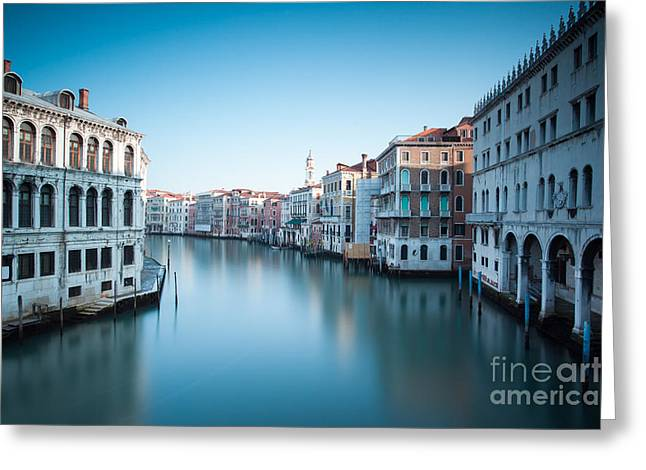 Grand Canal At Sunrise Venice Italy Greeting Card by Matteo Colombo