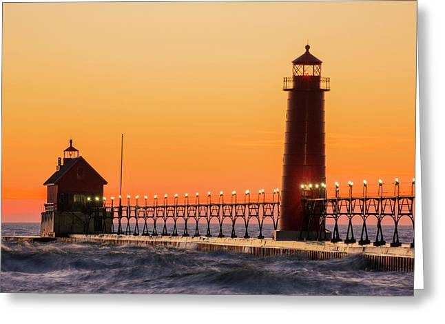 Grand Haven South Pier Lighthouse Greeting Card
