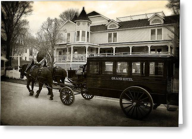 Grand Hotel Taxi Greeting Card