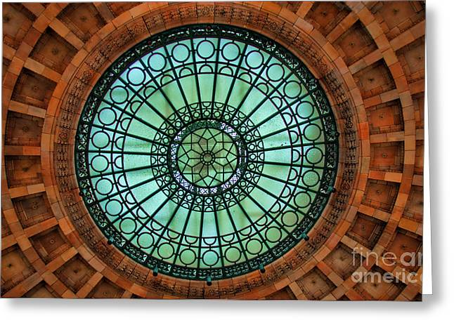 Grand Rotunda Pennsylvanian Pittsburgh Greeting Card by Amy Cicconi