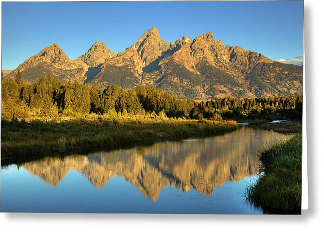 Greeting Card featuring the photograph Grand Teton by Alan Vance Ley