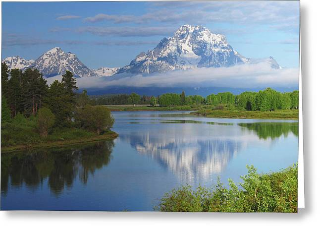 Grand Tetons From The Oxbow, Grand Greeting Card