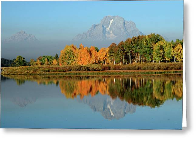 Grand Tetons In Autumn From The Oxbow Greeting Card