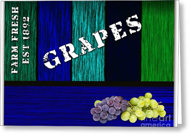 Grape Farm Greeting Card by Marvin Blaine