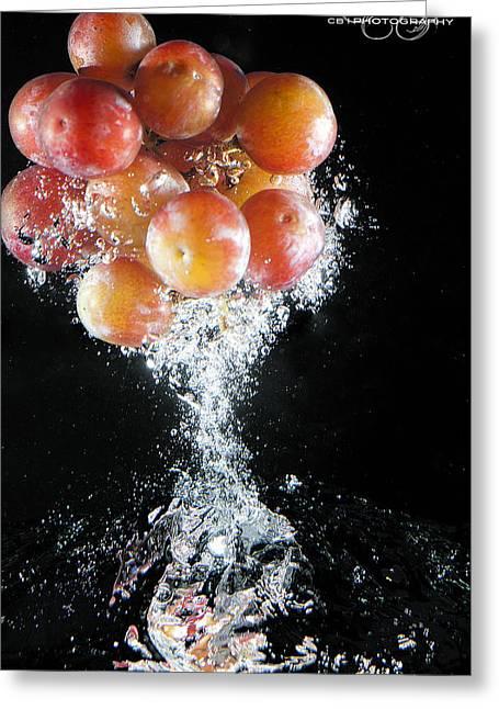 Grapes Splash Greeting Card