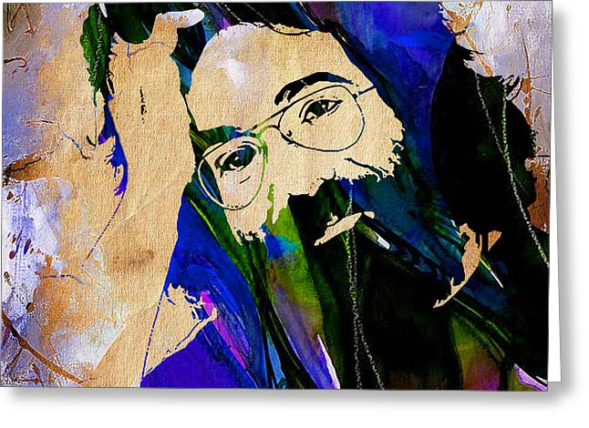 Grateful Dead Jerry Garcia Greeting Card by Marvin Blaine
