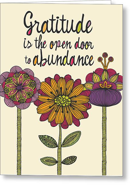 Gratitude Is The Open Door To Abundance Greeting Card