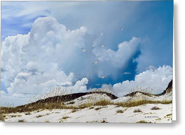 Grayton Beach Greeting Card by Rick McKinney