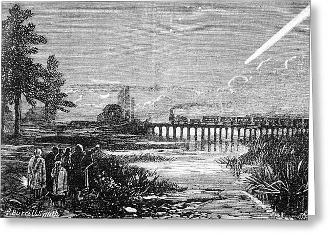 Great Comet Of 1882 Greeting Card by Royal Astronomical Society/science Photo Library