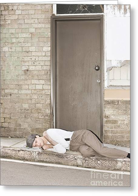 Great Depression Eviction Greeting Card by Jorgo Photography - Wall Art Gallery