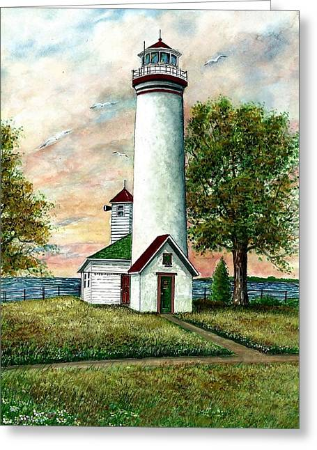 Great Lakes Light I Greeting Card by Steven Schultz