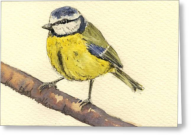 Great Tit Greeting Card by Juan  Bosco
