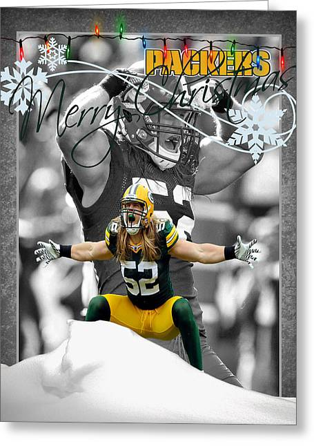 Green Bay Packers Christmas Card Greeting Card