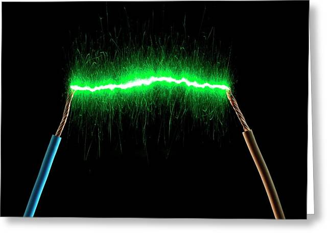 Green Energy Greeting Card by Victor De Schwanberg