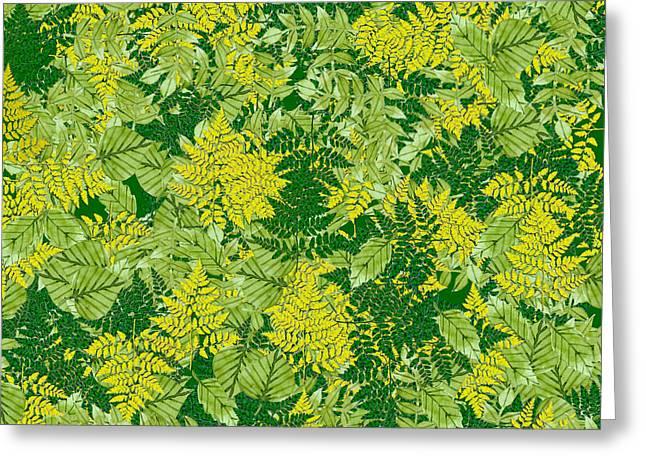 Green Foliage Greeting Card