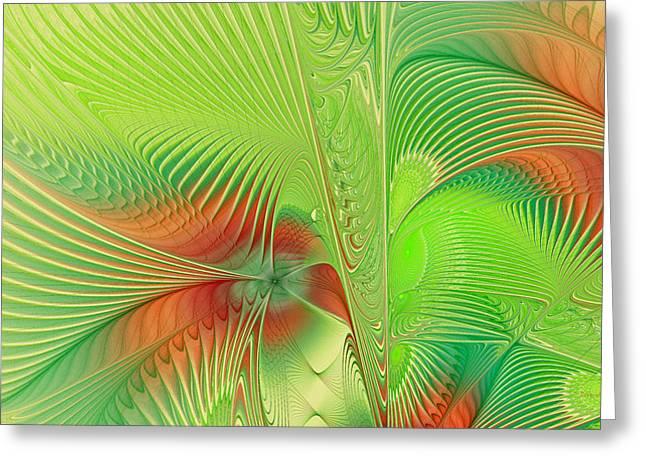 Green Machine Greeting Card by Deborah Benoit