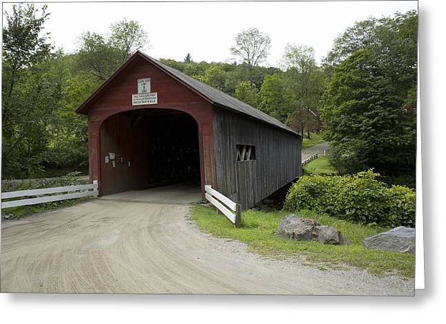 Green River Covered Bridge, Vermont Greeting Card by Science Stock Photography
