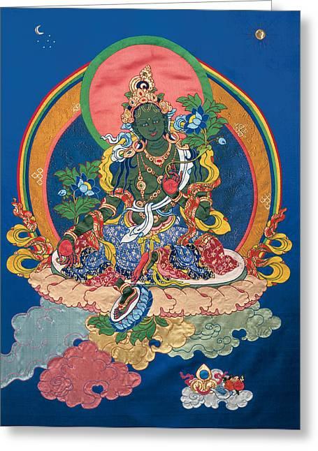 Green Tara  Greeting Card by Leslie Rinchen-Wongmo