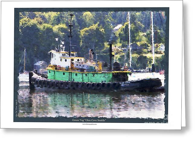 Greeting Card featuring the photograph Green Tug by Kenneth De Tore