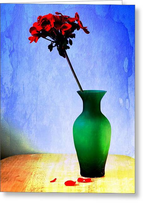 Green Vase Greeting Card by Donald Davis
