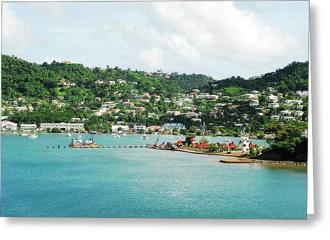 Grenada, St George, View Over Carenage Greeting Card