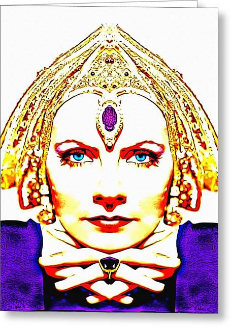 Greta Garbo Alias In Mata Hari Greeting Card