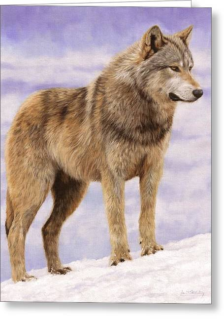Grey Wolf Greeting Card