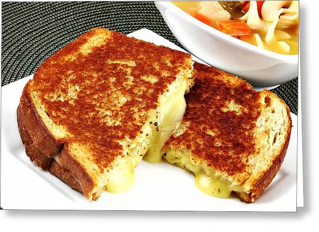 Grilled Cheese Greeting Card by Karin Hildebrand Lau