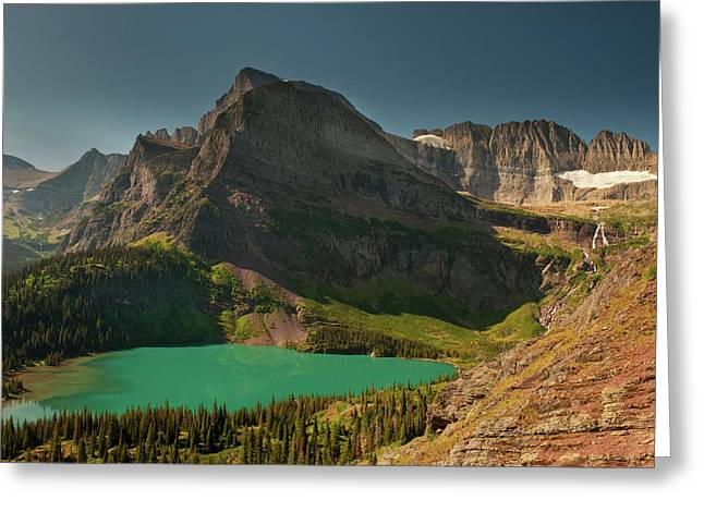 Grinnell Lake And Mount Gould, Glacier Greeting Card