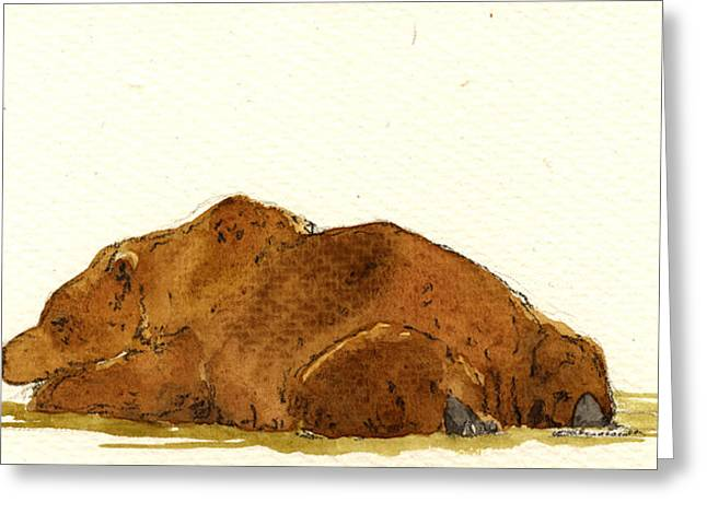 Grizzly Brown Bear Greeting Card