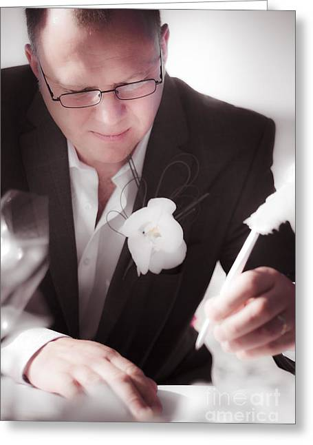 Groom Greeting Card by Jorgo Photography - Wall Art Gallery