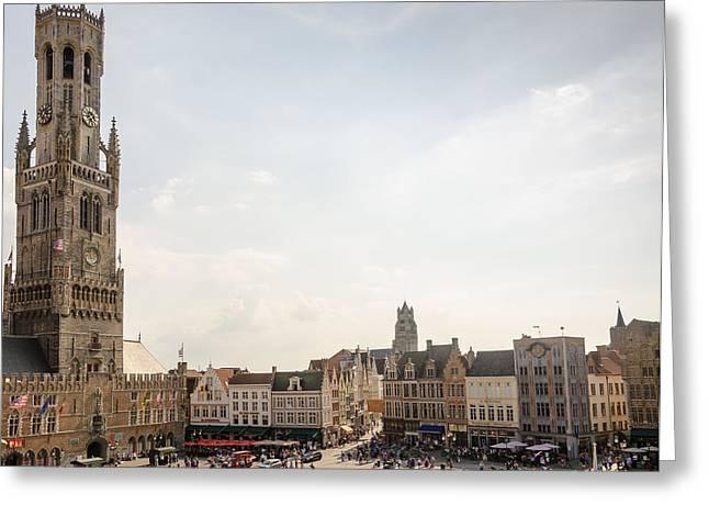 Grote Markt Brugge Greeting Card
