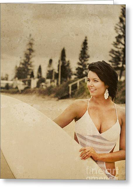 Grunge Surf Scene Greeting Card