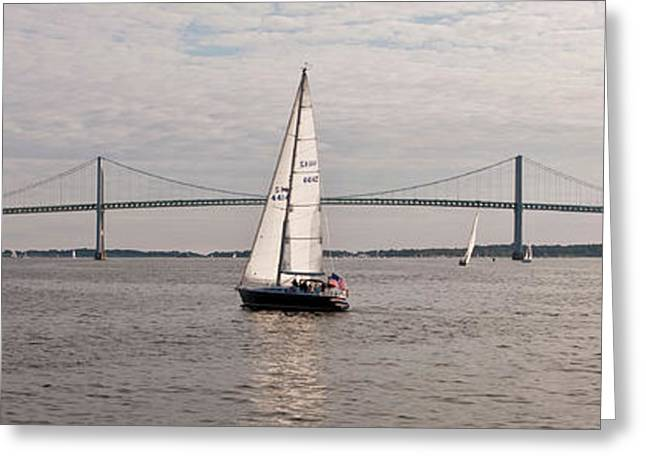 Gryphon Swan 44 Yacht Sailing Greeting Card