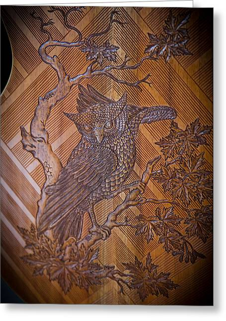 Greeting Card featuring the photograph Guitar Carving - Bali by Matthew Onheiber