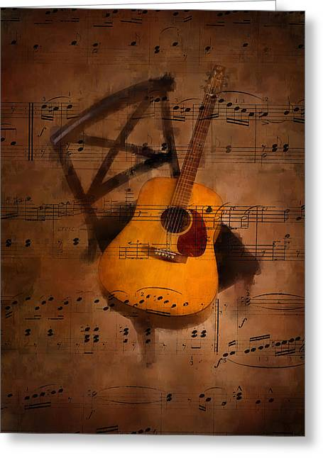Guitar No.5 Greeting Card by Brian Enright