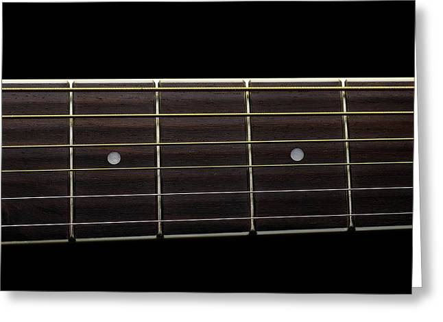 Guitar Strings Greeting Card by Science Photo Library