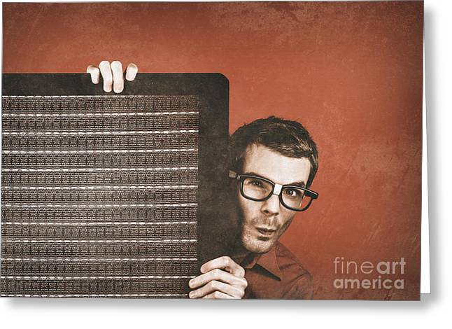 Guitarist Man Performing Stage Sound Check Greeting Card by Jorgo Photography - Wall Art Gallery