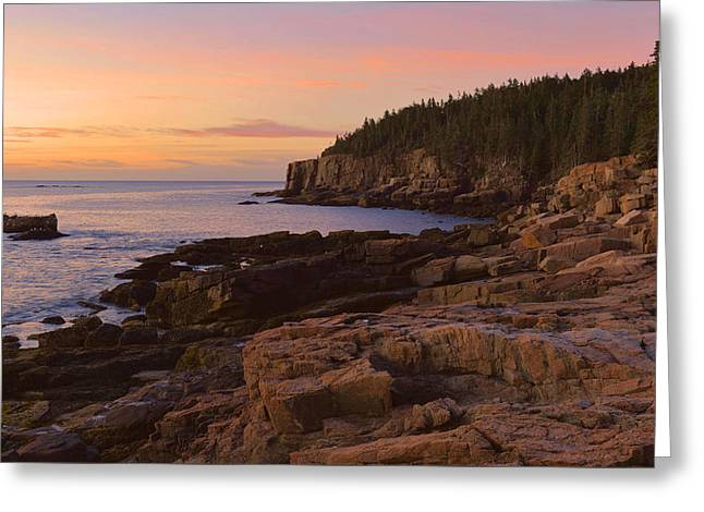 Greeting Card featuring the photograph Gulf Of Maine Sunrise by Stephen  Vecchiotti