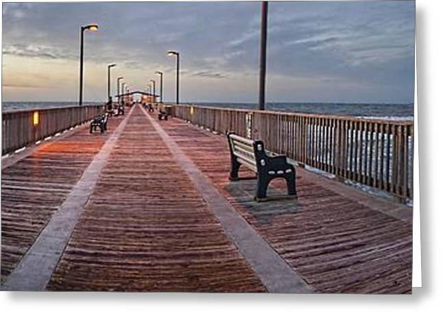 Gulf State Pier Greeting Card by Michael Thomas