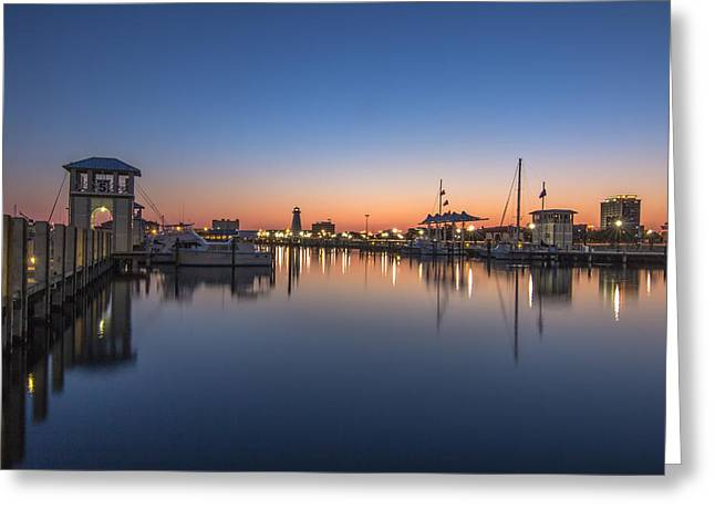 Gulfport Harbor Greeting Card by Brian Wright