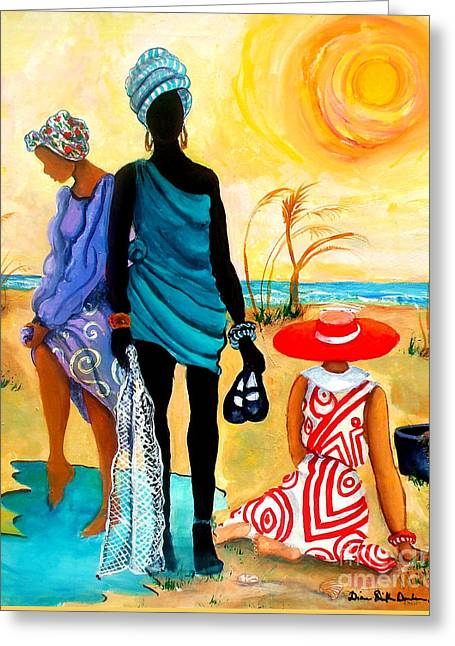 Gullah-creole Trio  Greeting Card
