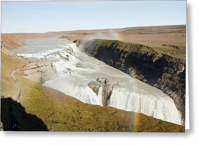 Gullfoss Waterfall Greeting Card by Ashley Cooper