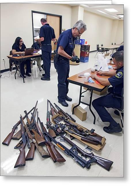 Gun Amnesty Greeting Card by Jim West
